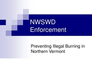 NWSWD Enforcement