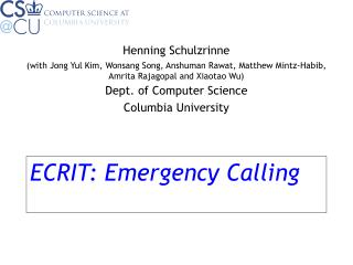 ECRIT: Emergency Calling