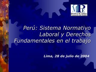 Per : Sistema Normativo Laboral y Derechos Fundamentales en el trabajo