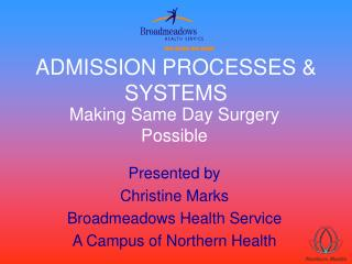 ADMISSION PROCESSES  SYSTEMS