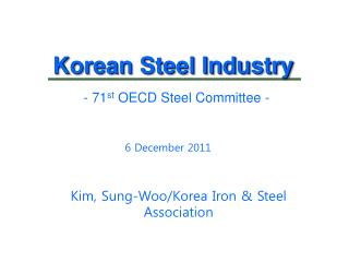 Korean Steel Industry