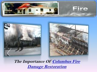 Columbus Fire Damage Restoration