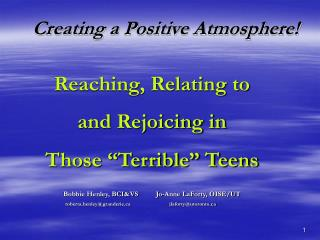 Creating a Positive Atmosphere
