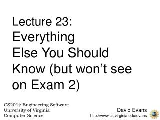 David Evans cs.virginia