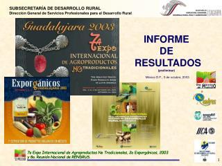 INFORME  DE  RESULTADOS preliminar