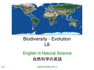 Biodiversity - Evolution L8