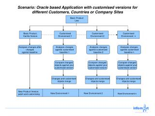 Scenario: Oracle based Application with customised versions for different Customers, Countries or Company Sites
