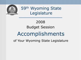 59th Wyoming State Legislature