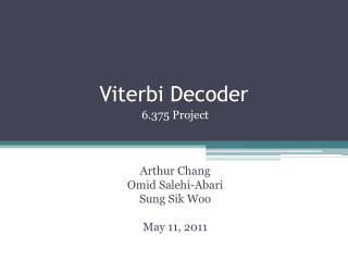 Viterbi Decoder
