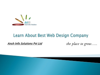 Learn About Best Web Design Company