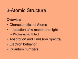 3-Atomic Structure