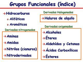 Grupos Funcionales  ndice