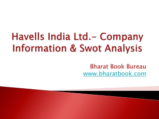 Havells India Ltd.- Company Information & Swot Analysis