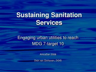 Sustaining Sanitation Services