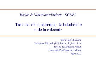 Module de N phrologie