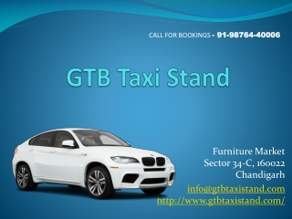 GTB Taxi Stand Chandigarh