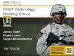 James Todd Project Lead Target Modernization