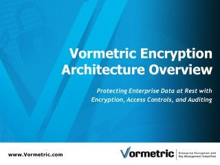 Vormetric Encryption Architecture Overview