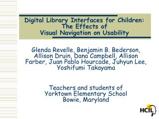 Digital Library Interfaces for Children: The Effects of  Visual Navigation on Usability