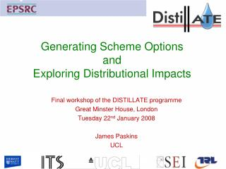 Generating Scheme Options and Exploring Distributional Impacts