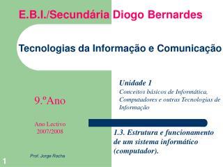 Tecnologias da Informa  o e Comunica  o