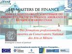 Des formations professionnelles ouvertes au Conservatoire National des Arts et M tiers