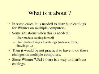 Catalog Distribution