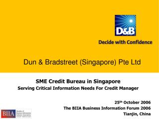 SME Credit Bureau in Singapore  Serving Critical Information Needs For Credit Manager