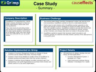Case Study - Summary -