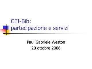 CEI-Bib:  partecipazione e servizi