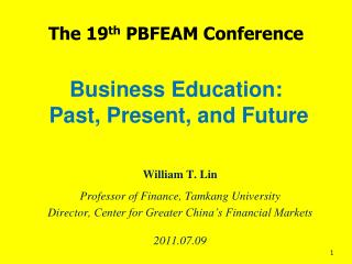 Business Education:  Past, Present, and Future