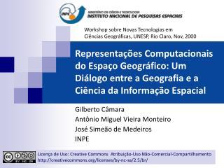 Representa  es Computacionais do Espa o Geogr fico: Um Di logo entre a Geografia e a Ci ncia da Informa  o Espacial