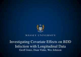Investigating Covariate Effects on BDD Infection with Longitudinal Data