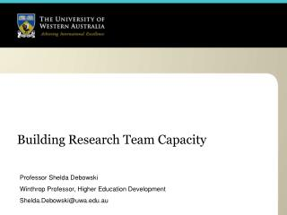 Building Research Team Capacity