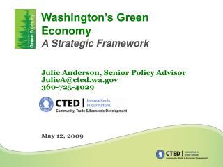 Washington s Green Economy A Strategic Framework