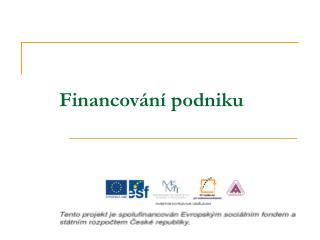 Financov n  podniku