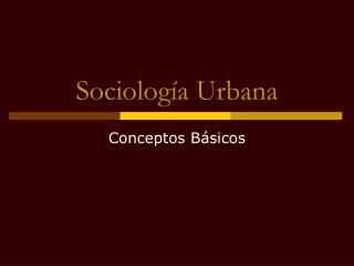 Sociolog a Urbana