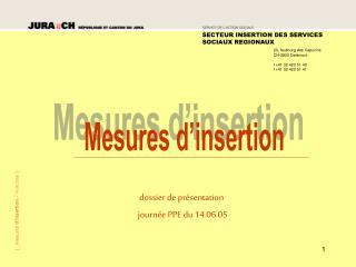 Dossier de pr sentation     journ e PPE du 14.06.05