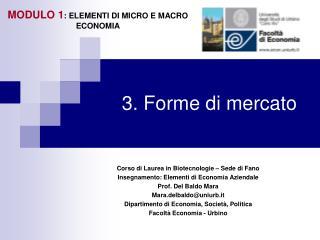 3. Forme di mercato