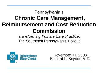 Pennsylvania s   Chronic Care Management, Reimbursement and Cost Reduction Commission  Transforming Primary Care Practic