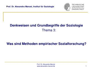 Prof. Dr. Alexandra Manzei, Institut f r Soziologie