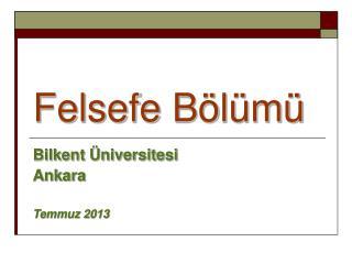 Felsefe B l m