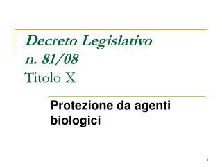 Decreto Legislativo  n. 81
