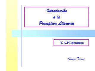 V. A.P Literatura