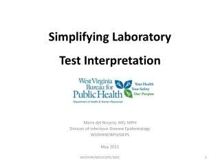 Simplifying Laboratory  Test Interpretation
