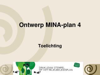 Ontwerp MINA-plan 4