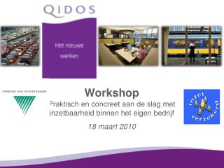 Workshop  Praktisch en concreet aan de slag met inzetbaarheid binnen het eigen bedrijf
