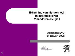 Erkenning van niet-formeel  en informeel leren   Vlaanderen Belgi