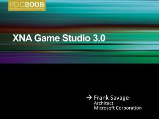 XNA Game Studio 3.0