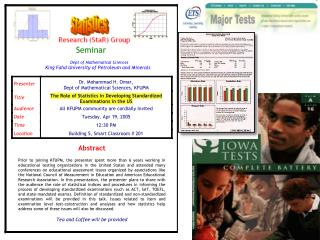 Role of Statistics in Developing Standardized Examinations in the US